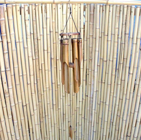 Kleines Bambus Windspiel (77cm) Bali Klangspiel Garten