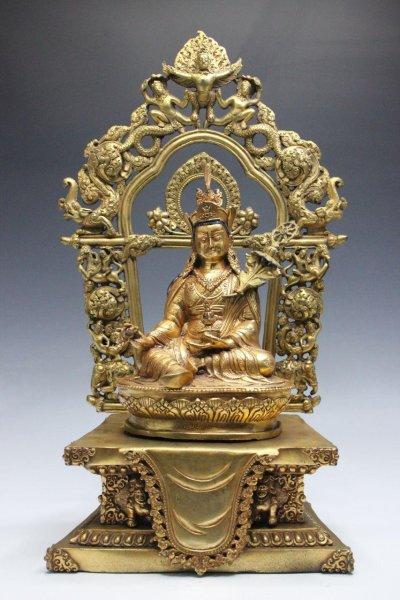 24 Karat vergoldeter Padmasambhava Buddha