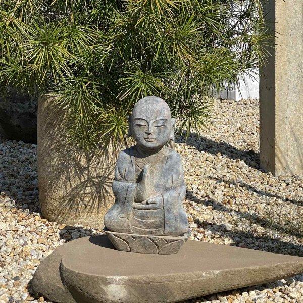 Traditionell gefertigter Mönch (45cm) Garten Figur aus China