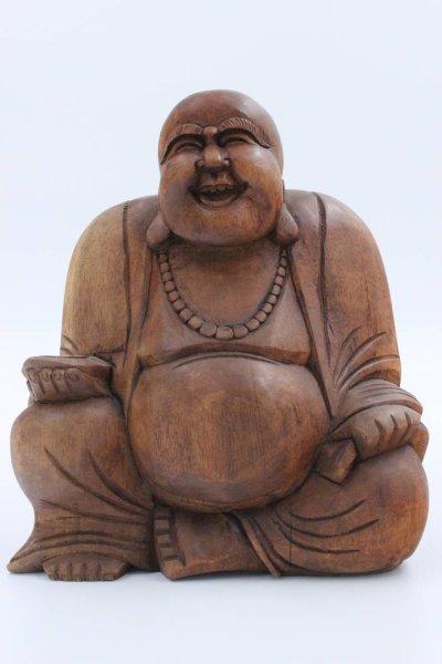 Buddha Figur Hotai 23cm, aus Holz