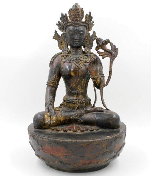 Weiße Tara Statue aus Bronze