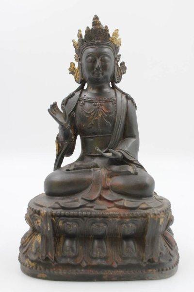 Bronze Buddha Figur Amoghasiddhi - aus China