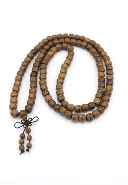 Buddhistische Mala Meditationskette Bocote Holz