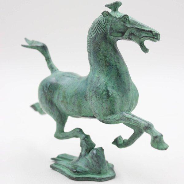 Fliegendes Gansu Pferd (20cm) aus Bronze - China