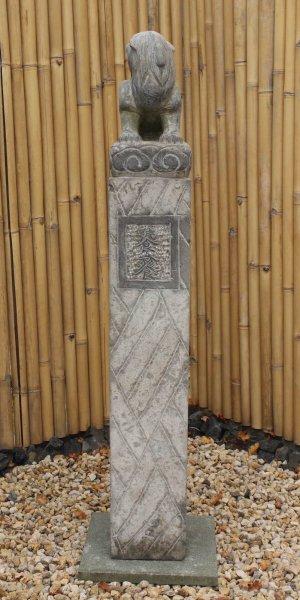 China Drachen Pagode Garten Stele aus Naturstein