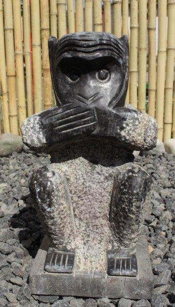 Steinfigur Affe - Nichts Reden 30,5 cm