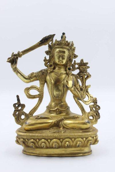 Manjushri Buddha aus Bronze - China