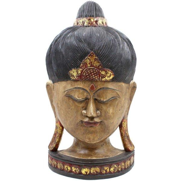 Thailändische Buddha Maske (52cm) Teak Holz Kopf
