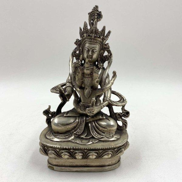 Yab Yum Buddha Figur (18cm) Tantrische Bronze Statue