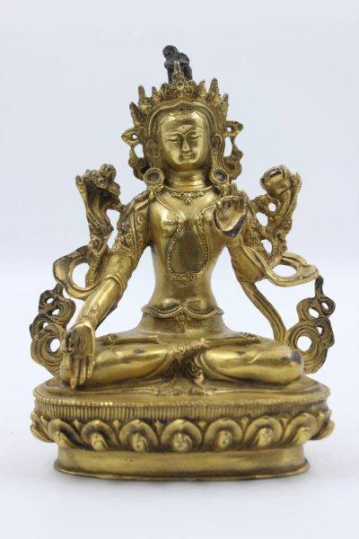 Buddha Figur Weiße Tara aus Bronze
