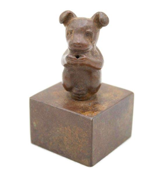 Chinesisches Tierkreiszeichen Hund - Bronze Stempel