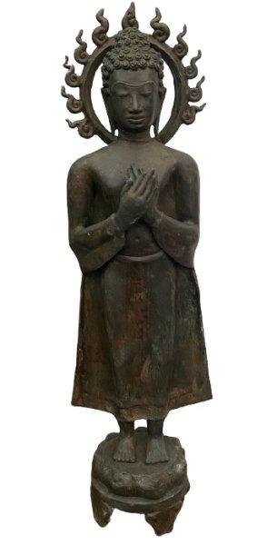 Wochentag Buddha Freitag (68cm) Bronze Ayutthaya Figur