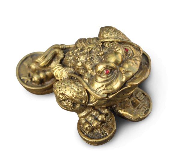 Chinesische Geldkröte aus Bronze