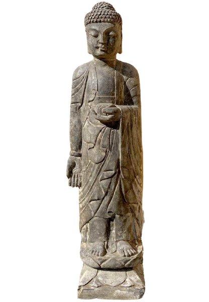 Tempel Buddha Statue 100cm groß - Asien Garten - Unikat
