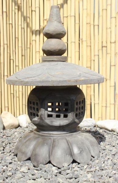 Asiatische Steinlaterne - Lotusblume - Geisterhaus für Garten