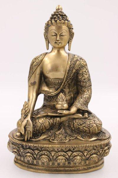 Buddha Figur Medizin aus Bronze