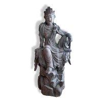 Buddha Statue Holz Figur China Kwan-Yin Zi Zai
