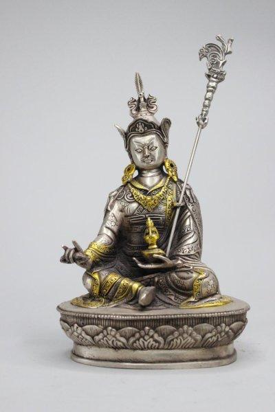 Padmasambhava Buddha Figur aus Bronze