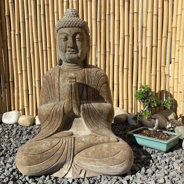Garten Buddha Statue (62cm) betend - Namaskar Mudra