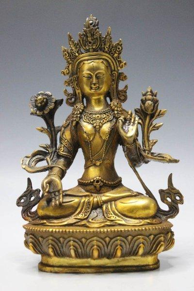 Buddha Figur - Weiße Tara