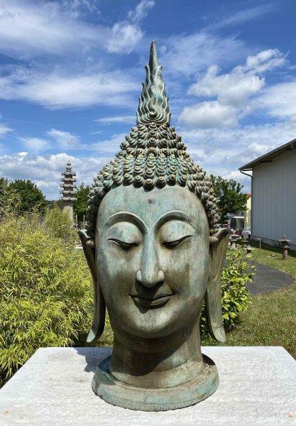 Sukhothai Buddha Kopf (160cm) Bronze Garten Statue