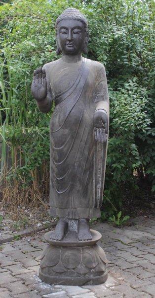 Tempel Buddha Statue180cm groß - Asien Garten - Unikat