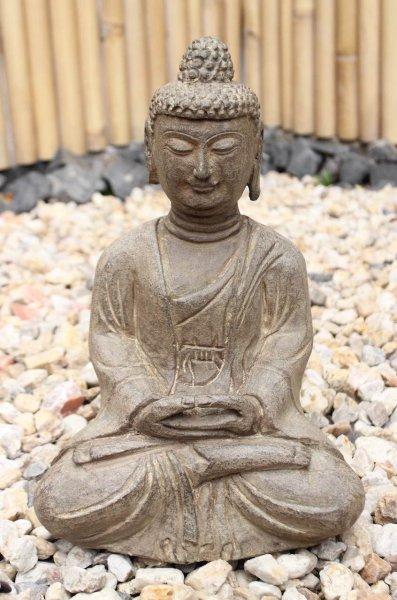 Amitabha Figur aus Naturstein - Gartenbuddha
