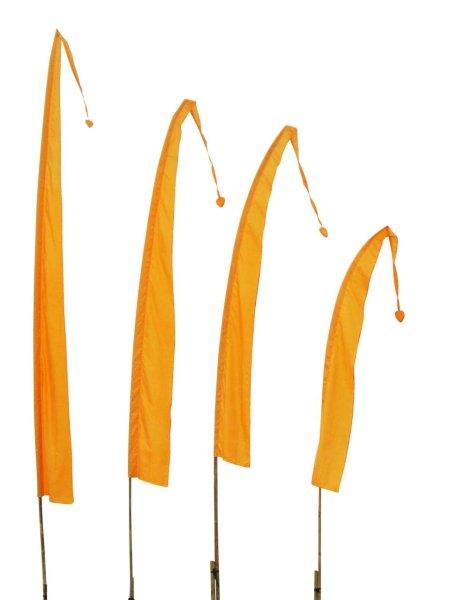 Balifahne in Goldgelb mit herzförmiger Spitze, Umbulfahne