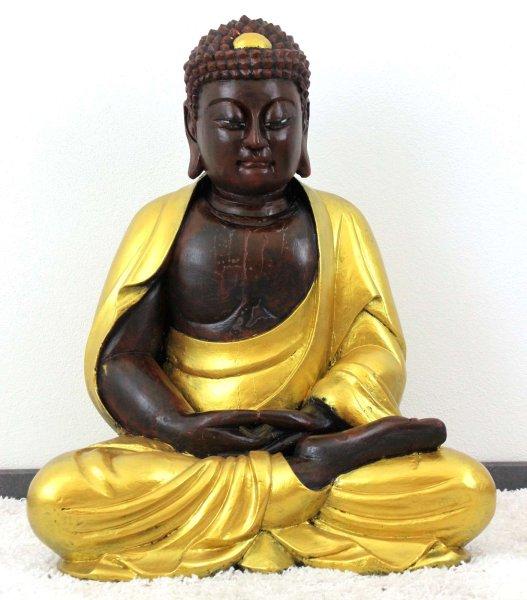 Amitabha Buddha Statue (80cm) Chinesische Holz Figur
