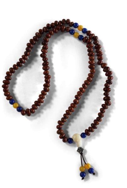 Buddhistische Meditationskette aus Lotussamen