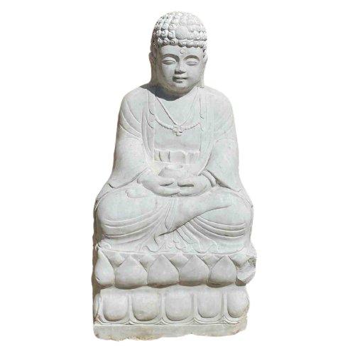 Amitabha Buddha (101cm) Statue aus Marmorstein