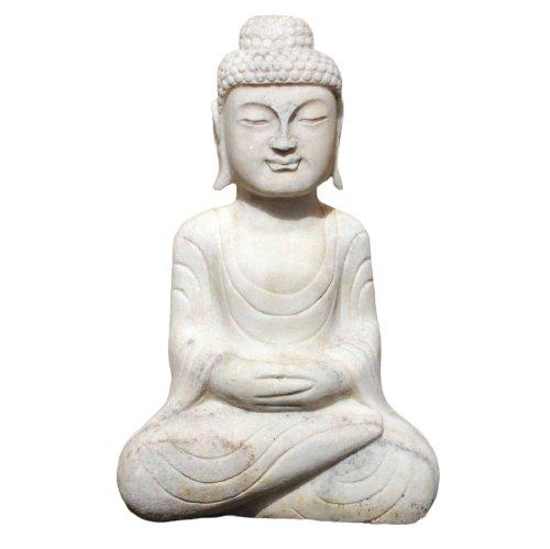 Amitabha Garten Buddha Statue (53cm) Marmor Stein