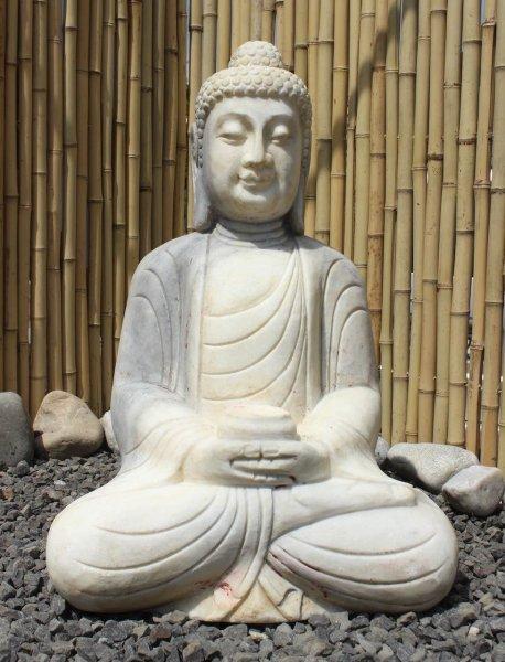 Garten Buddha Brunnen aus Marmorstein