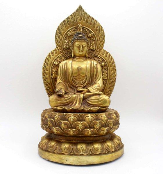 Ratnasambhava Buddha Figur (30cm) Bronze Statue