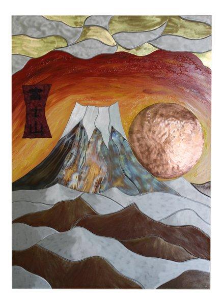 Gemälde Fujiyama größter Berg/Vulkan Japan