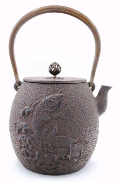 Koi Fisch Teekanne Gusseisen (23,5cm) China Zeremonie