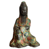 Cloisonné Guanyin (27cm) Buddha Figur Bronze