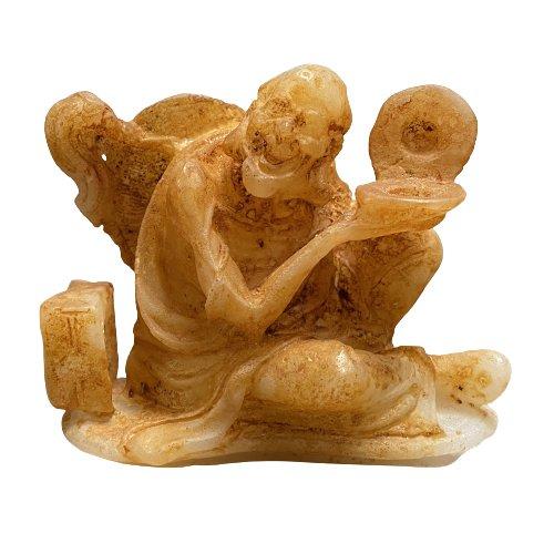 Hetian Jade Arhat (8cm) Luohan Figur
