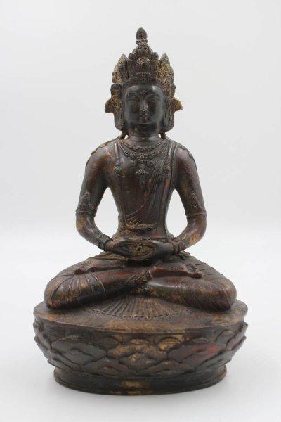Buddha Amitabha - Bronzefigur aus China