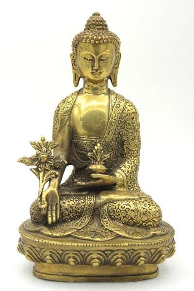 Medizin Buddha (19cm) Bronze Figur
