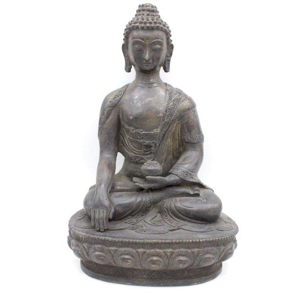 Sitzender Siddharta Buddha (30,5cm) Bronze Figur China