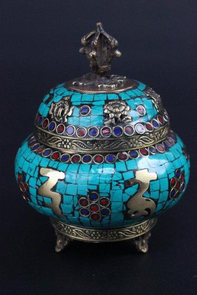Räuchergefäß aus Kupfer mit Dorje