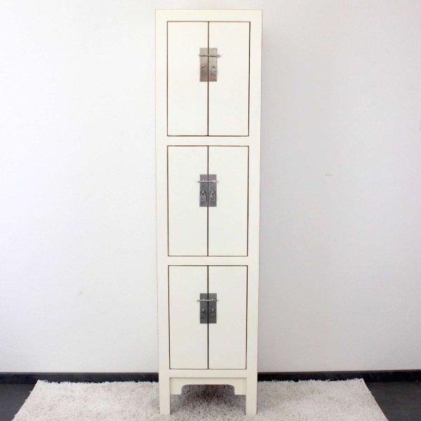 Hohe Ulmenholz Kommode Weiß (180cm) China Holz Schrank