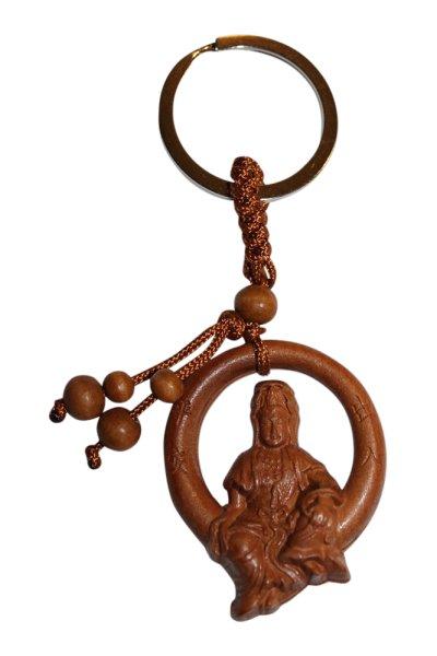 Kwan-Yin Buddha Anhänger aus Rosenholz