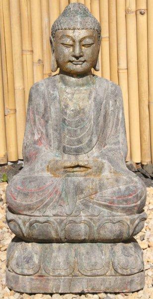 Amitabha Garten Buddha Statue - Restbemalung