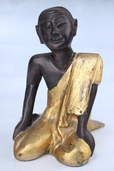 Mönch Holz Figur aus Burma