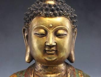 Sitzende: Amitabha Figur ❤