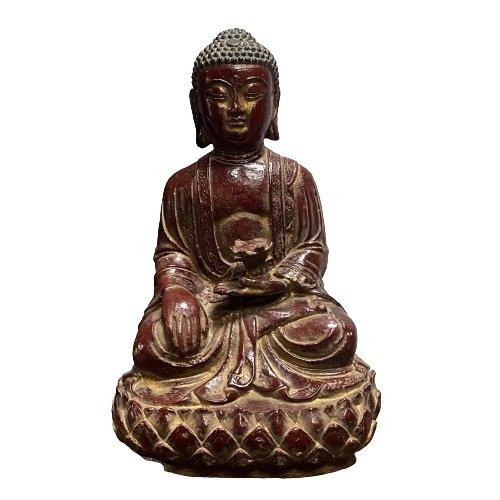 Buddha Figur Siddharta Gautama (34cm) Gußeisen
