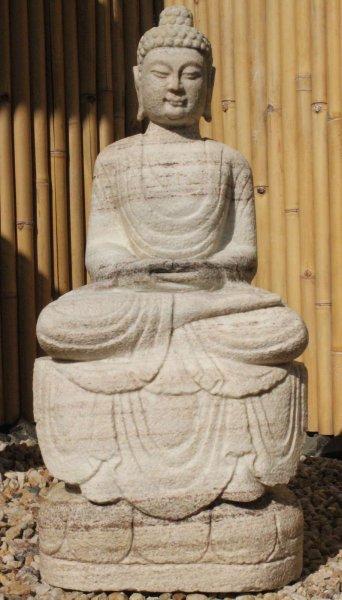 Amitabha Garten Buddha Statue aus Antikmarmor
