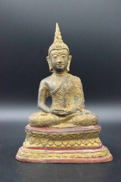 Amitabha Buddha Figur Bronze Sukhothai Thailand
